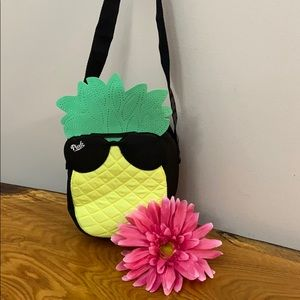 Pink Victoria's Secret Pineapple Tote Bag